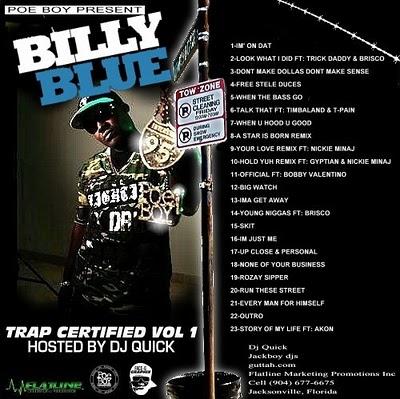 Billy Blue Trap Certified Official Mixtape Mixtape Download