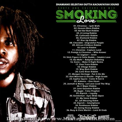 Listen and download Dhamiano Selektah (kachafayah) - Smoking Love Reggae Mixtape