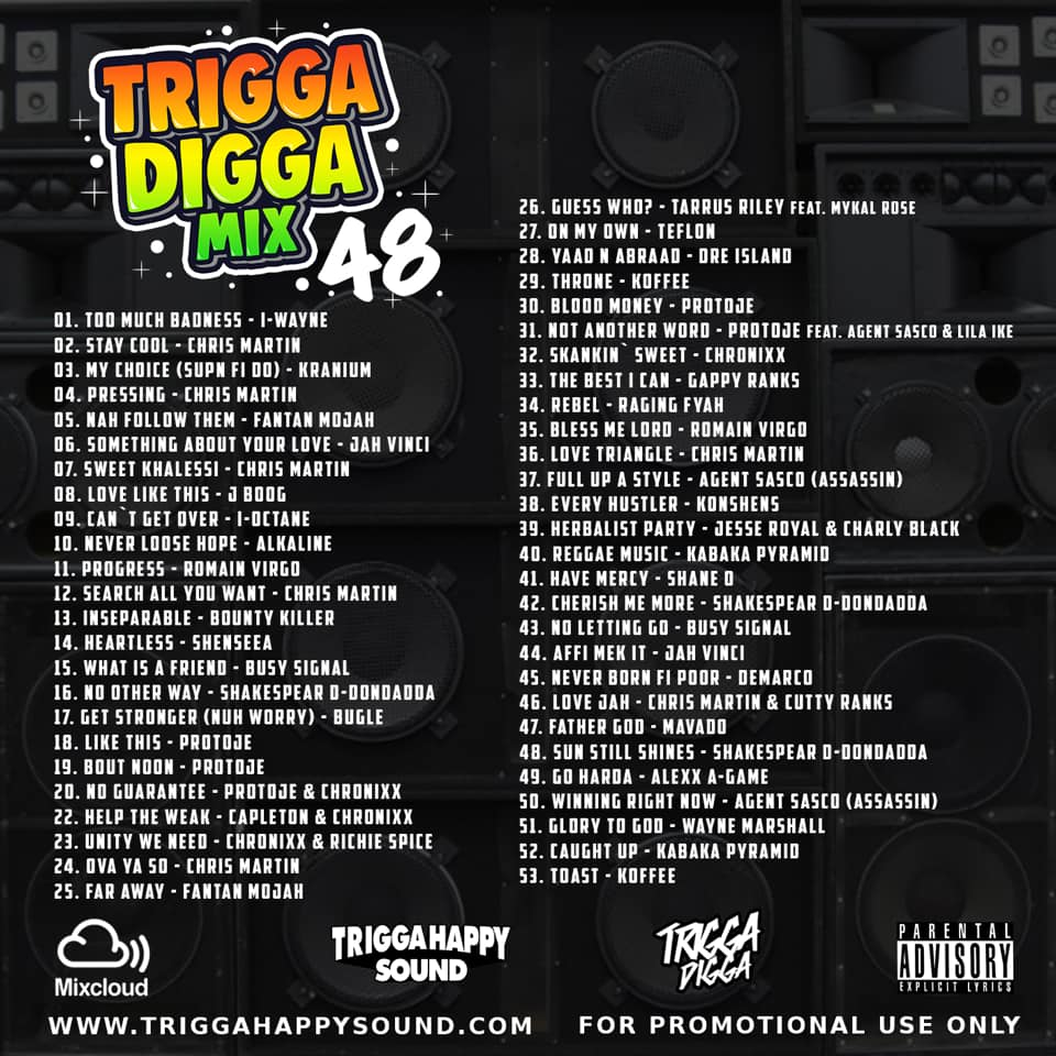 Trigga Digga Mix Vol  48 (Reggae Mixtape 2019 Ft Jesse Royal